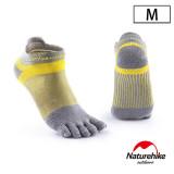 Naturehike 暖笙coolmax快乾排汗運動短襪 (NH20FS002)   透氣船襪  - 灰色大碼