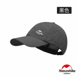 Naturehike 燒花戶外透氣防曬棒球帽 (NH20FS003) | 休閒鴨舌帽  - 黑色
