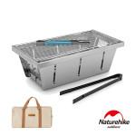 Naturehike 野穀戶外露營不銹鋼折疊燒烤架 (NH20CJ006) | 戶外燒烤爐烤肉架