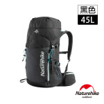 Naturehike 45L重裝登山後背包 (NH18Y045-Q) | 露營行山背囊 自助旅行包 - 黑色