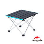 Naturehike FT08加大款可捲式露營摺疊桌 (NH19Z008-Z) | 極輕量鋁合金蛋捲桌 - 大碼黑色