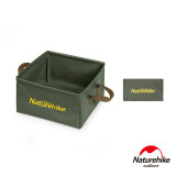 Naturehike 13L多用途便攜可摺疊PVC方形儲水盆 (NH19SJ007)   折疊水桶水箱 - 綠色