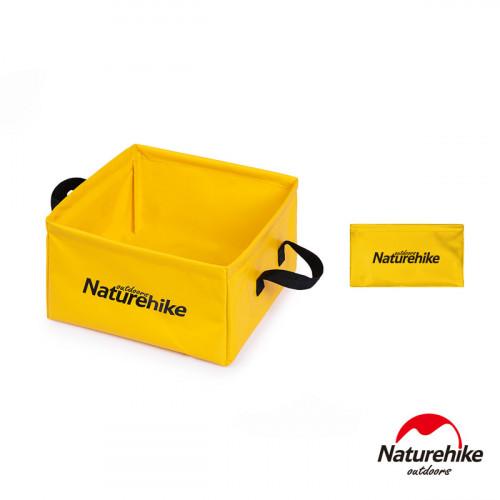 Naturehike 13L多用途便攜可摺疊PVC方形儲水盆 (NH19SJ007) | 折疊水桶水箱 - 黃色