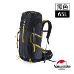Naturehike 65+5L 雲徑重裝登山後背包 (NH16Y065-Q) | 行山背囊 露營背包 自助旅行包  - 黑色