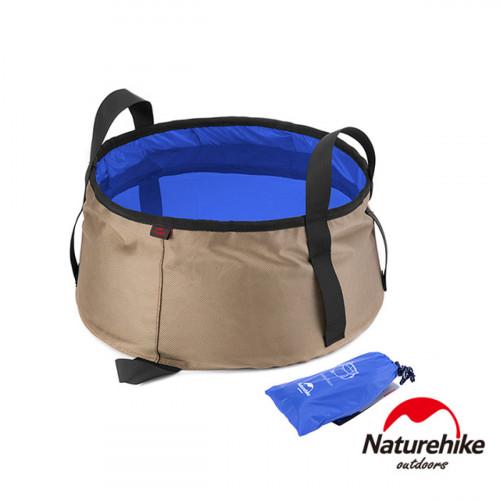 Naturehike 10L輕量耐磨折疊儲水盆 (NH15Z002-L) | 戶外水桶洗臉盆 附收納袋 - 藍色