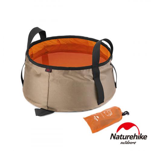 Naturehike 10L輕量耐磨折疊儲水盆 (NH15Z002-L)   戶外水桶洗臉盆 附收納袋 - 橙色