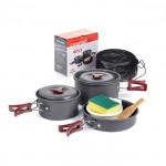 Naturehike 2-3人鋁合金露營套鍋組合  (NH15T203-G) | 便攜炊具