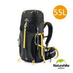 Naturehike 55+5L雲徑重裝露營背囊 行山背包 (NH16Y020-Q) | 大容量自助旅行背包 - 黑色