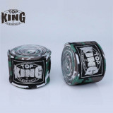 TOP KING TKB 3.5米印花拳擊保護手帶 - 綠迷彩