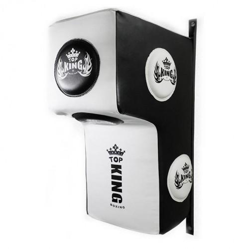 TOP KING 貼牆掛式拳擊牆靶 | 多功能牆上沙包拳靶 - 白黑色