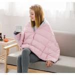 DOWN CAPE 白鵝羽絨披肩懶人毯 | 便攜多功能午睡蓋腿小毯子