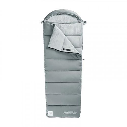 Naturehike M180 冬季信封帶帽睡袋 (NH20MSD02) - 灰色    可拼接設計 露營便攜睡袋    適合溫度範圍 5~12℃