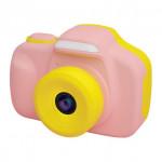日本 VisionKids HappiCAMU T3 特大觸控屏幕雙鏡兒童相機 | 香港行貨 - 粉紅色