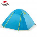 NatureHike P4戶外輕型4人鋁桿露營帳篷 (NH18Z044-P) |Professional P系列帳幕 |  雙層內外帳設計 - 藍色
