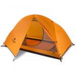 NatureHike Spinder1 騎行鋁桿20D矽膠防雨單人帳篷 (NH18A095-D) | 野營帳幕贈地席 - 橙色