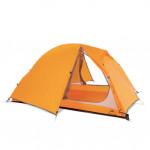 NatureHike Spinder2 騎行鋁桿20D矽膠防雨雙人帳篷 (NH18A180-D) | 野營帳幕贈地席 - 橙色