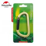 NatureHike 8cm D型鋁合金掛鉤登山扣 (NH15A001-H) | 多功能快掛背包安全鑰匙扣 - 綠色