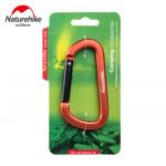 NatureHike 8cm D型鋁合金掛鉤登山扣 (NH15A001-H) | 多功能快掛背包安全鑰匙扣 - 橙色