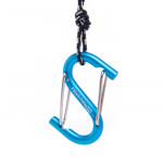 NatureHike S型鋁合金多功能登山扣 (NH15A003-H) | 掛鉤快掛鑰匙扣 背包安全扣 - 藍色