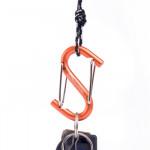NatureHike S型鋁合金多功能登山扣 (NH15A003-H) | 掛鉤快掛鑰匙扣 背包安全扣 - 橙色