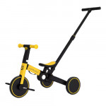 Uonibaby 三合一兒童滑步平衡車單車帶手把款 - 黃色|滑步車|推行車