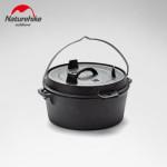 NatureHike 戶外燒烤吊鍋鑄鐵鍋(NH20CJ011) | 便攜吊鍋荷蘭鍋 燜燒湯鍋