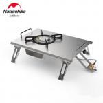 NatureHike 桌面式摺疊不鏽鋼單頭氣爐 (NH20RJ001) | 戶外野炊野營便攜式氣灶(不含氣罐)