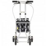 日本TacaoF 輕量型助行手推車|助行車 (北歐花紋設計) - 黑色花紋