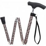 銀適四段摺合式拐杖 - 黑色