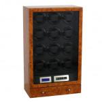 Y0120C 12錶位自動上鍊LED觸控屏幕智能錶盒 - 外花樟內黑