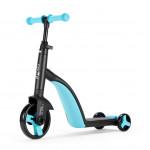 Nadle 三合一兒童滑板車 - 藍色 | 超大PU輪平衡車 腳踏車
