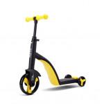 Nadle 三合一兒童滑板車 - 黃色 | 超大PU輪平衡車 腳踏車