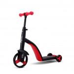 Nadle 三合一兒童滑板車 - 紅色 | 超大PU輪平衡車 腳踏車