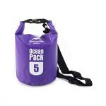 Naturehike Marine500D 5L圓桶形防水袋 (FS15M005-J) | 戶外防水漂流包 500D加厚高密款 - 紫色