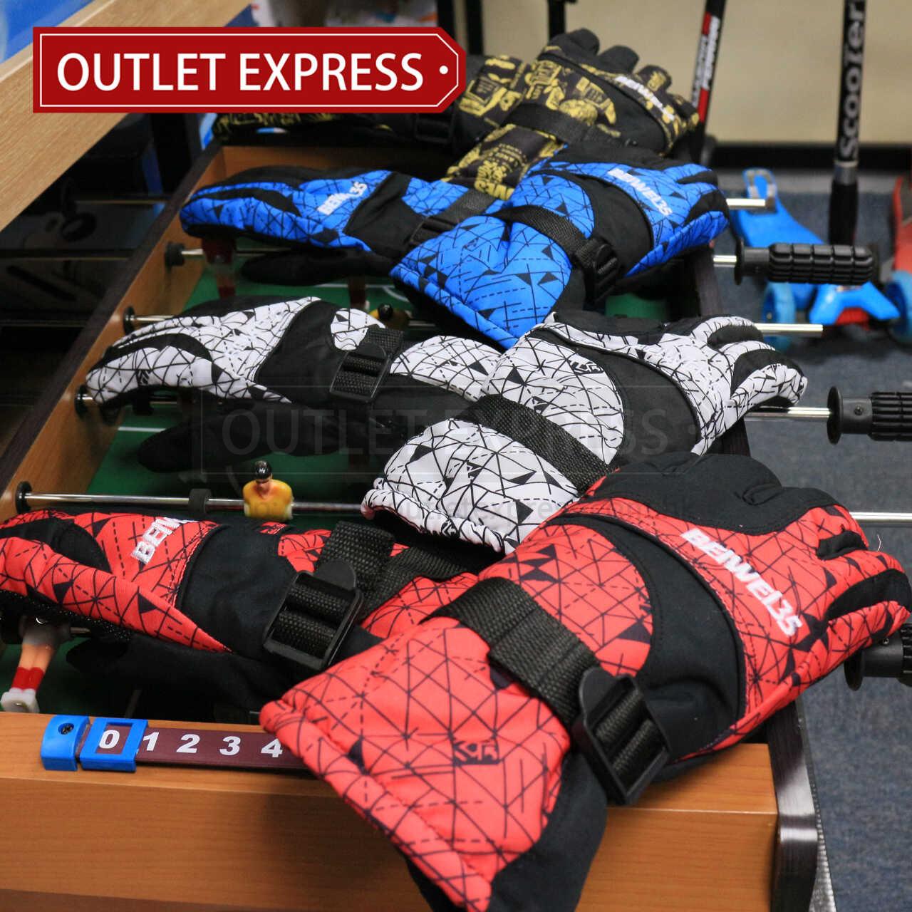 全指防風保暖滑雪手套 - Outlet Express HK生活百貨城實拍相片
