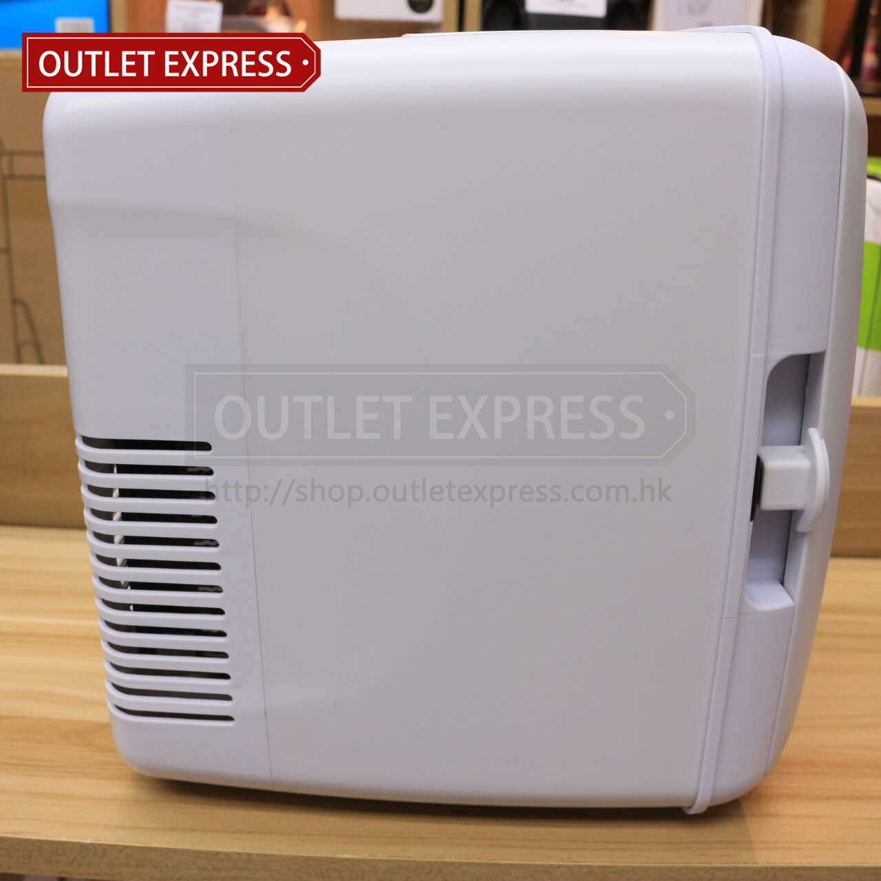 4L 冷暖兩用迷你小雪櫃 | 可車載或家用 側面圖- Outlet Express HK生活百貨城實拍相片