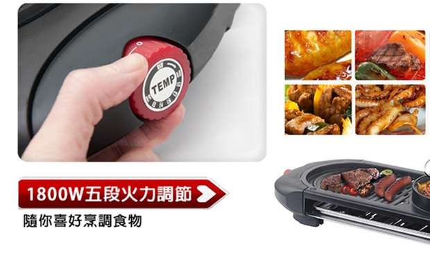 TURBO THP898 二合一電燒烤爐連迷你火煱 - Outlet Express HK生活百貨城