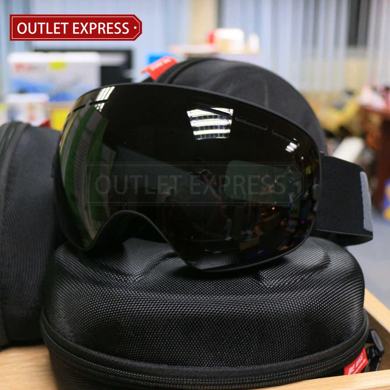 BENICE 大球面雙層防霧滑雪鏡 | 可配合眼鏡用 黑色 -Outlet Express HK生活百貨城實拍相片