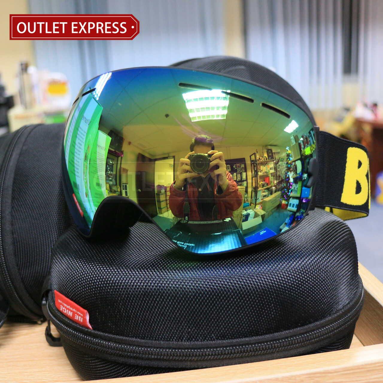 BENICE 大球面雙層防霧滑雪鏡 | 可配合眼鏡用 經典款-Outlet Express HK生活百貨城實拍相片