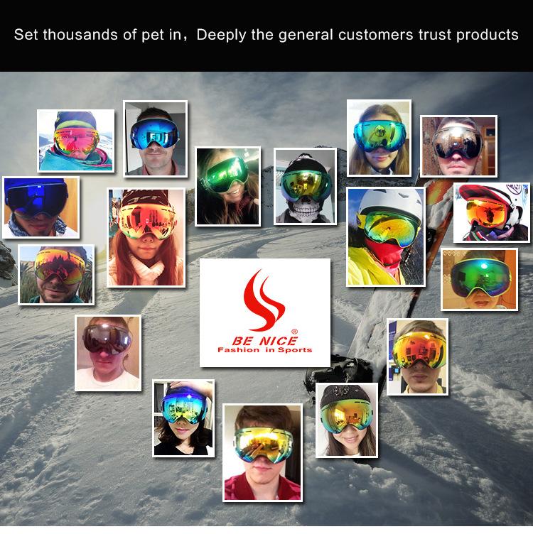 BENICE 大球面雙層防霧滑雪鏡 | 可配合眼鏡用- Outlet Express HK生活百貨城