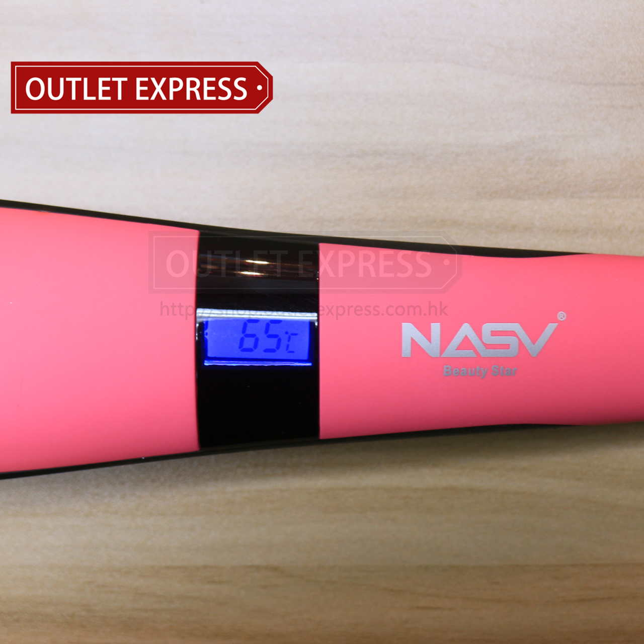 NASV-300 負離子直髮梳 溫度顯示- Outlet Express HK 生活百貨城實拍相片