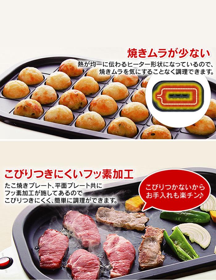 日本IRIS ITY-24W -W 章魚燒電煎板 | 燒肉烤盤 設計介紹 Outlet Express HK生活百貨城