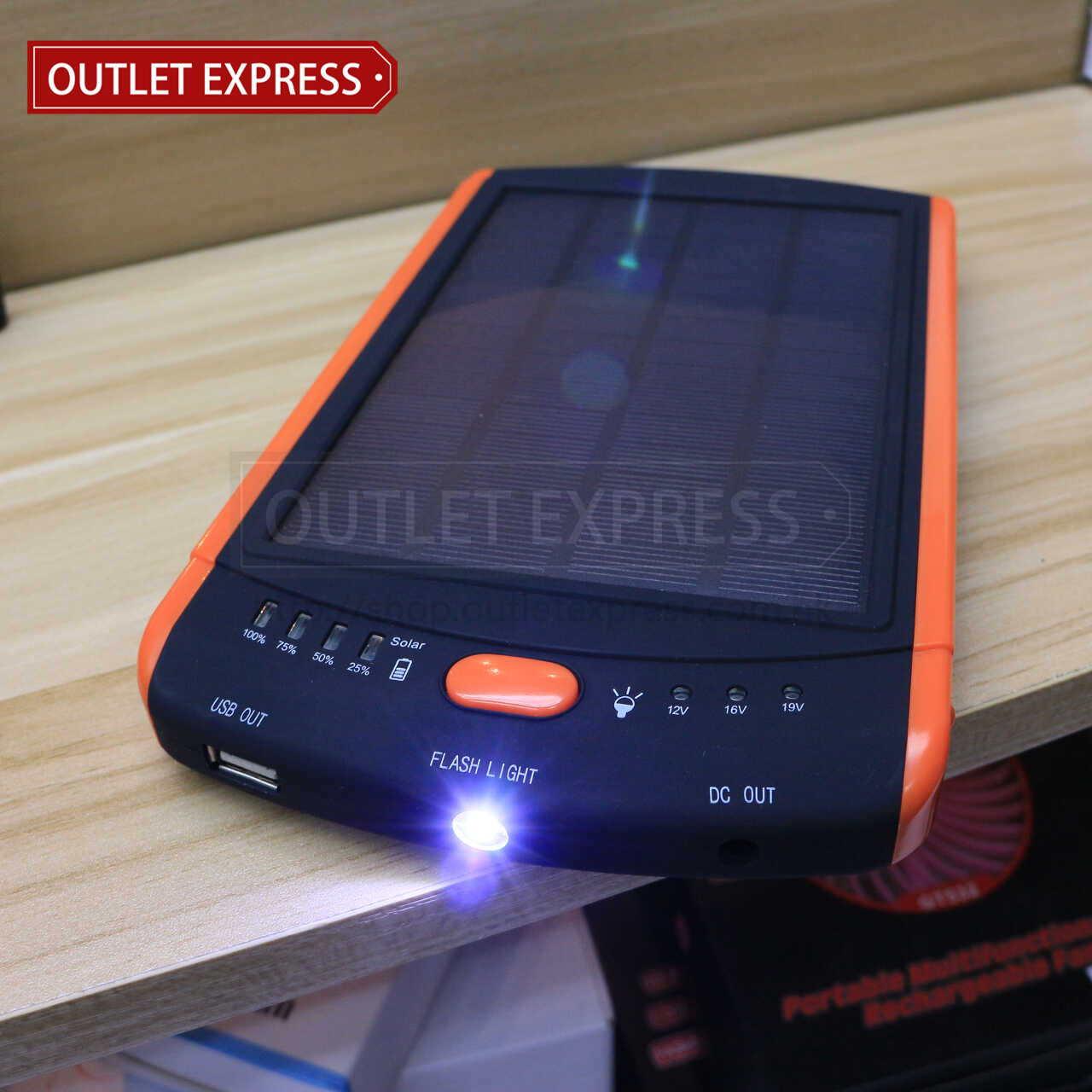 23000mAH 超薄太陽能移動電源 電筒功能- Outlet Express HK 生活百貨城實拍圖