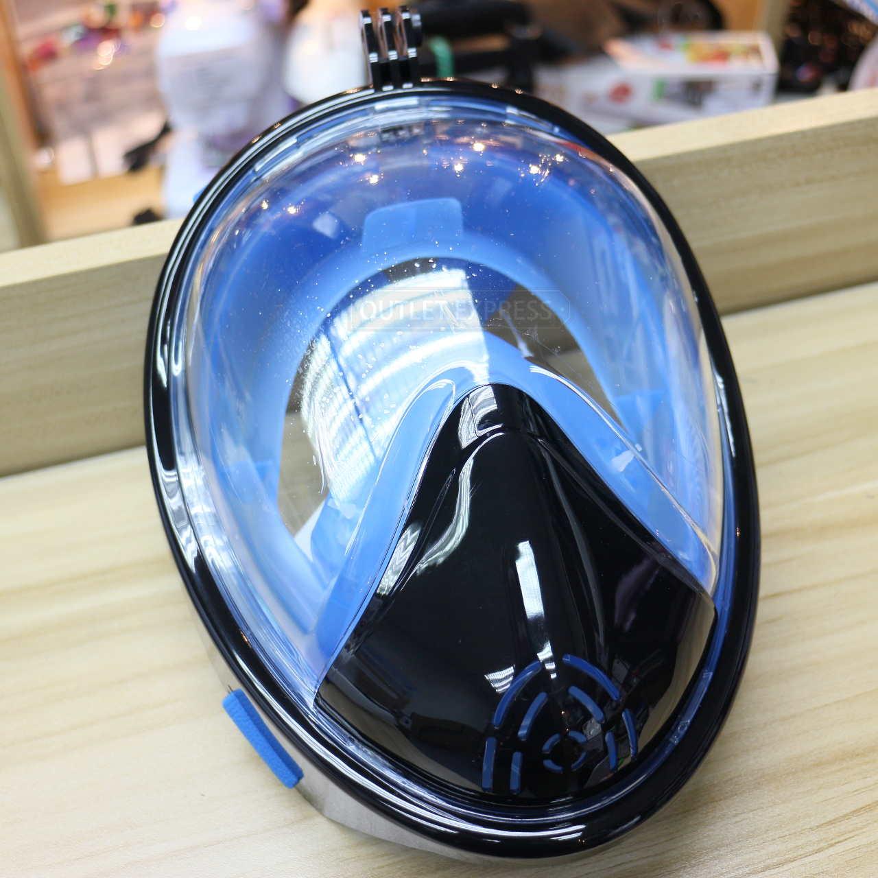 THENICE全乾式防霧浮潛面罩 黑藍- Outlet Express HK生活百貨城實拍相片