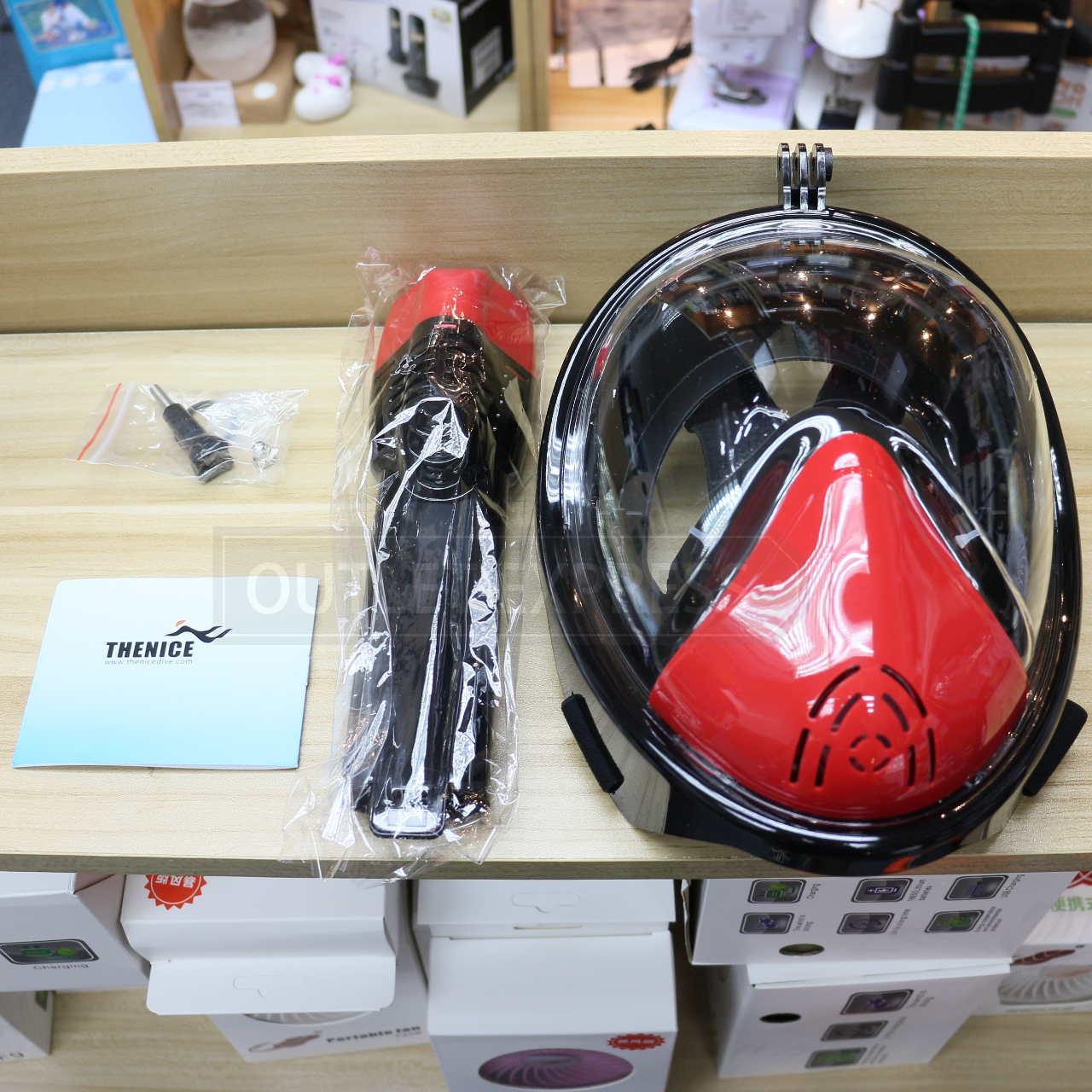 THENICE全乾式防霧浮潛面罩及包裝配件- Outlet Express HK生活百貨城實拍相片